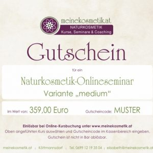 Naturkosmetik Onlinekurs inkl. Rohstoffe
