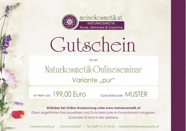 Naturkosmetik Onlineseminar